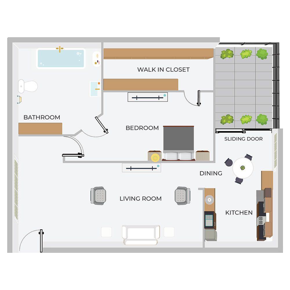 B1- 1/1 Apartment