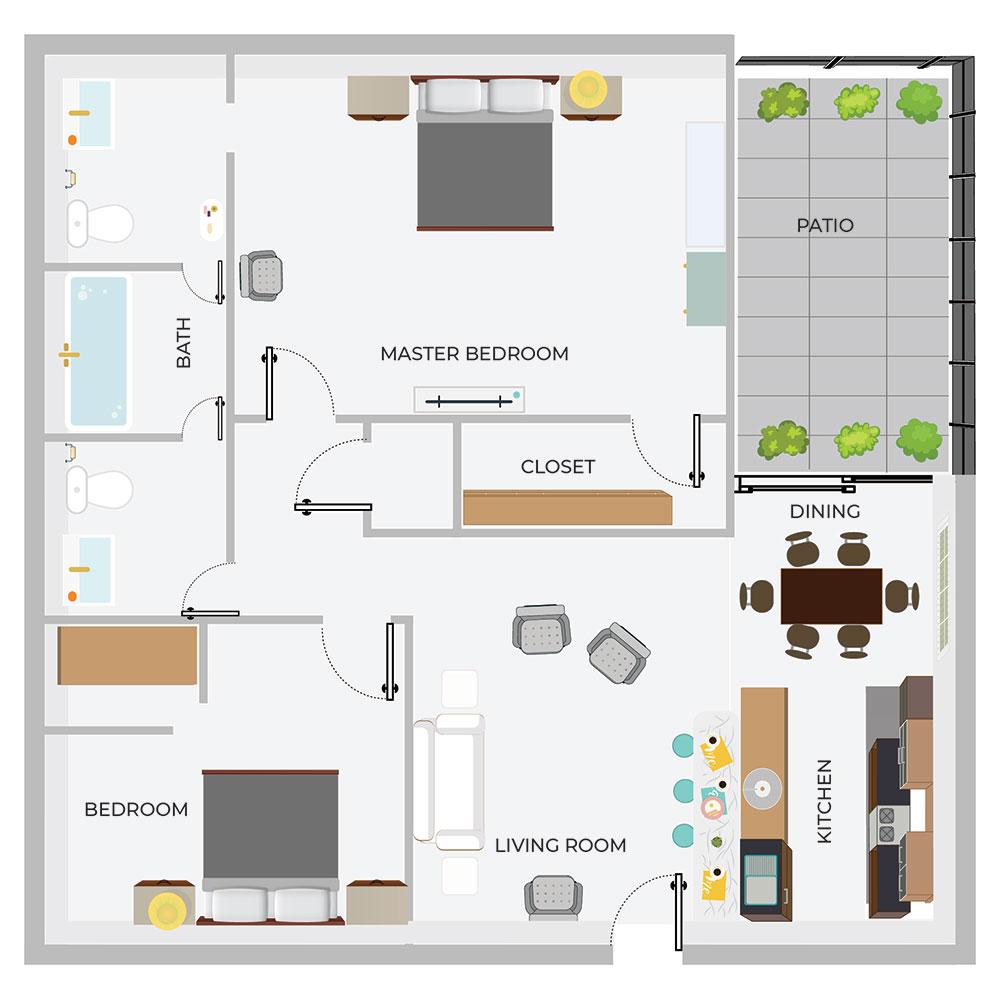 B2 2/1.5 Apartment