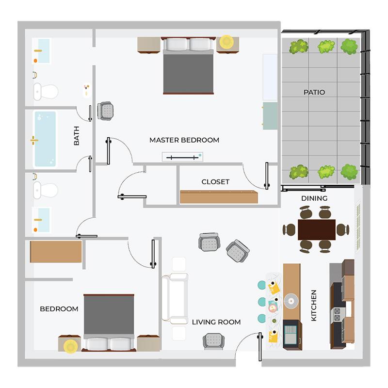 A2 | 2/1.5 Apartment